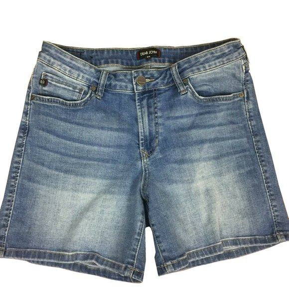 Dear John Pants - Dear John Women's Stretch Denim Shorts Siz 29 Blue